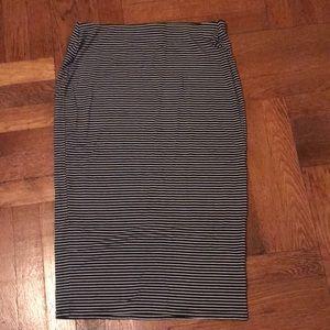Midi Striped Skirt NWOT